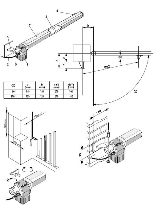 Автоматика для распашных ворот Rotelli MT400 (старое название Rotelli)