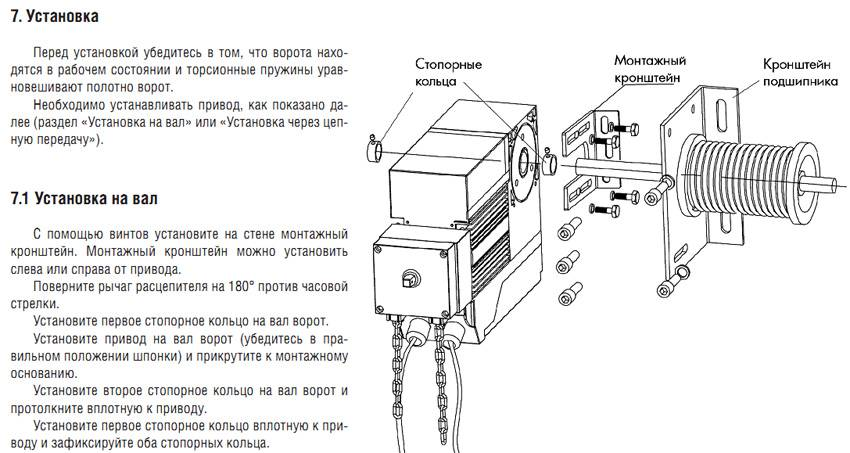 Схема приводов для ворот
