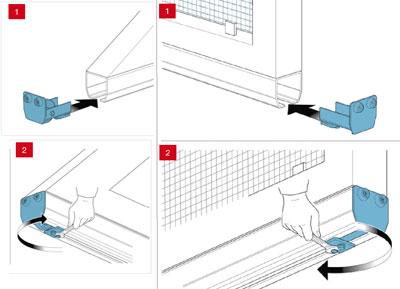 Установка концевого ролика, интегрированного в заглушку