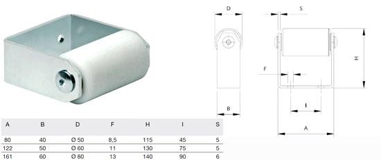 Подъемный ролик-заглушка направляющей