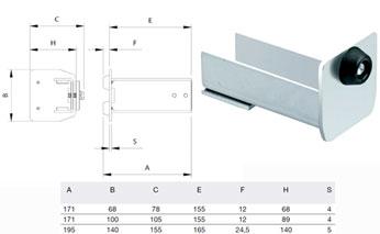 Типы концевых заглушек для откатных ворот