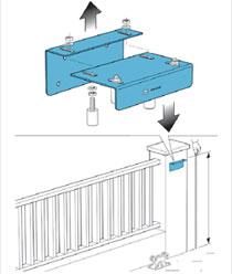 Установка направляющей роликовой скобы на откатные ворота