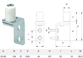 Типы регулируемых роликов для установки ниже верхнего горизонтального профиля полотна