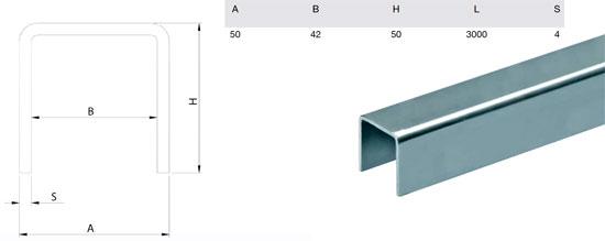 Типы специального П-образного профиля для установки направляющего ролика
