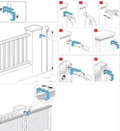 Установка регулируемого направляющего ролика на откатные ворота - рис.2