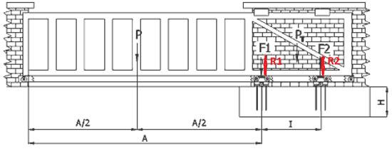 Технически корректная разработка чертежа полотна откатных ворот с учетом длины перекрываемого проема и веса рабочей части полотна