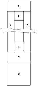 Конструктивные схемы заполняемых профилированным листом полотен – с одной стороны