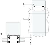 Раздвижные ворота своими руками: технические и монтажные размеры роликовой направляющей - рис.3