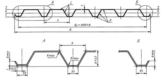 Размеры обшивочного профилированного листа по факту определяют расположение вертикальных стоек и длину рабочей части полотна